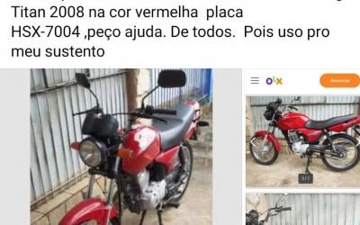 Casal usa rede social para tentar recuperar moto furtada em Três Lagoas