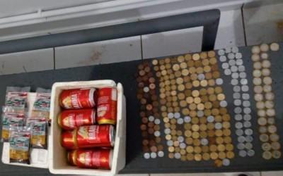 """Ladrão que furtou """"Luzes Bar"""" é preso e já havia consumido cervejas levadas do estabelecimento"""