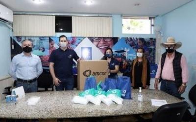 Prefeitura de Três Lagoas recebe a doação de 4 mil máscaras da empresa Amcor