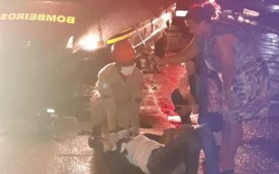 Mulher fica ferido em acidente de trânsito no bairro Paranapungá