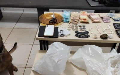 Ação entre Canil, Serviço de Inteligência e equipe operacional da PM apreende drogas em Três Lagoas