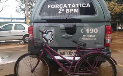 Bicicleta furtada há 4 anos é apreendida com menor no Paranapungá