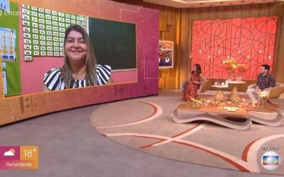 Projeto de professora de Três Lagoas é apresentado na Globo no programa de Fátima Bernardes
