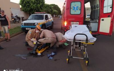 Ao abrir a porta de veículo, motorista causa acidente grave no Santos Dumont