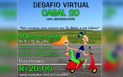 Desafio de corrida online busca comprar motocicleta para casal que teve veículo furtado