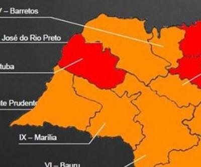 Região de Araçatuba fica isolada na fase vermelha
