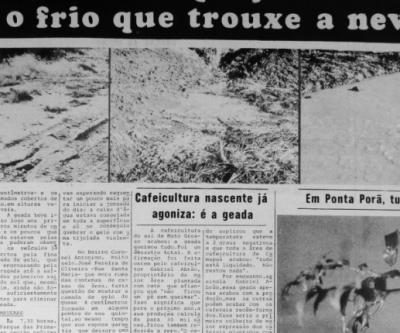 Frio histórico? MS pode registrar 3ºC, mas 'friaca' não deve superar recorde dos anos 70
