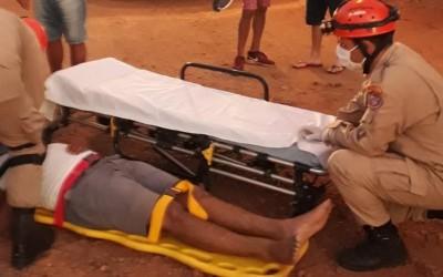 Motociclista socorrido pelos bombeiros neste domingo teve traumatismo craniano