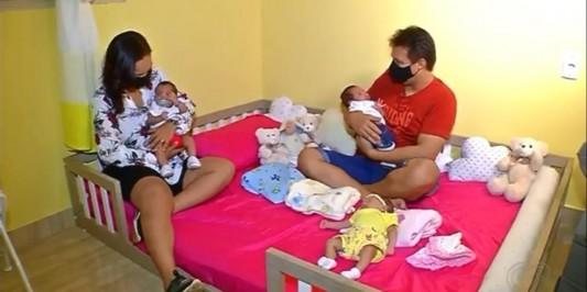 Casal tem trigêmeos antes de começar tratamento para engravidar: 'Foi um choque'