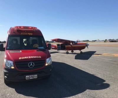 Atacados por onça, trabalhadores são resgatados de avião em Aquidauana