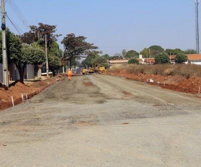 Extensão das obras do bairro Santa Rita são ampliadas e bairro ganhará mais 2 km de asfalto
