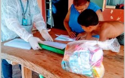 Famílias da zona rural agradecem à REME pela entrega das atividades e kit alimentação