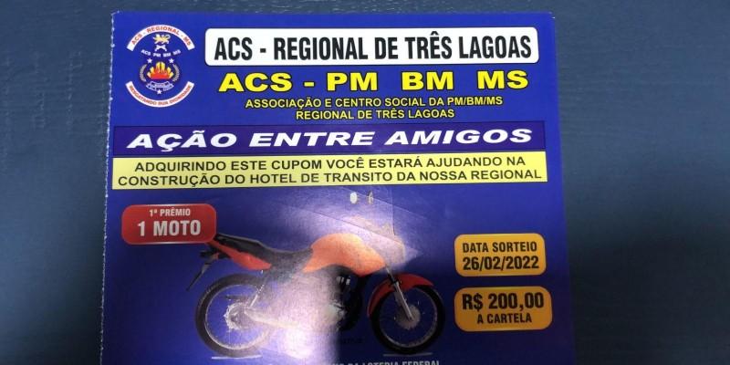 Para construção de um hotel de trânsito, ACS faz rifa que vai sortear uma moto