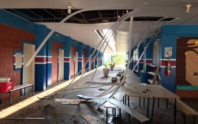 Forte Chuva suspende aulas da Escola Municipal de Garcias