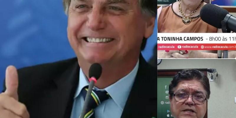 Bolsonaro será entrevistado nesta 2º feira por radialistas de Três Lagoas