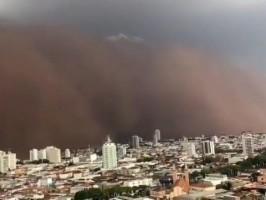 Final de semana tem previsão de tempestade com ventos de até 100 km/h em Mato Grosso do Sul