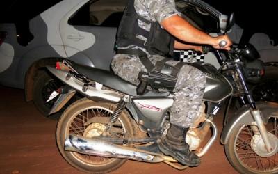 Moto furtada na sexta feira é recuperada pela ROTAI