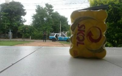 Bebida furtada é abandonada em Agência de Correios no Jupiá