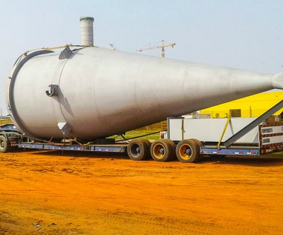 Construção do Forno de Cal do Projeto Horizonte 2 avança com chegada de novas peças