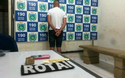 Menor de 16 anos é apreendido pela ROTAI com drogas no Guanabara