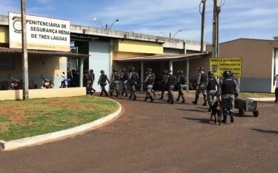 Após tumulto e transferências, Pelotão de Choque entra em presídio de Três Lagoas