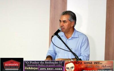 Governador Reinaldo Azambuja em Três Lagoas
