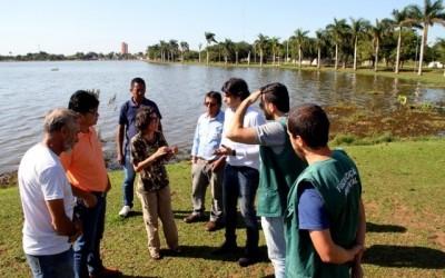 Prefeitura e Embrapa Pantanal estudam criar termo para manejo dos animais da Lagoa Maior
