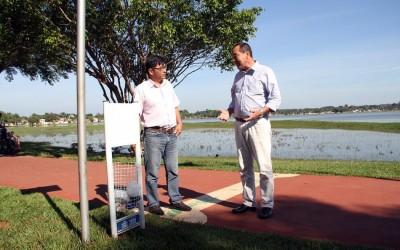 Lagoa Maior recebe 35 novas lixeiras doadas por empresa a SEINTRA