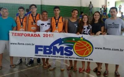 Três-lagoenses se destacam em estadual sub 15 de basquete e vão para o Brasileiro