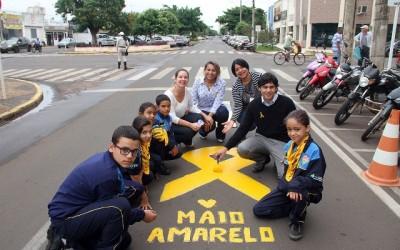 Maio Amarelo é marcado por diversas ações de conscientização no trânsito