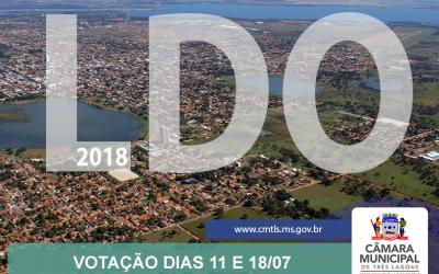 LDO 2018 será votada em sessões extraordinárias