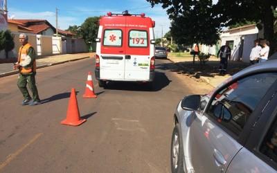 Viatura do SAMU bate em atendimento a ocorrência de acidente no Santos Dumont