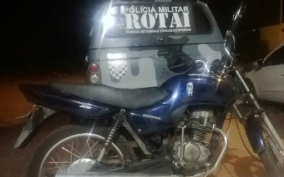 ROTAI esclarece furto de moto duas horas depois do registro policial