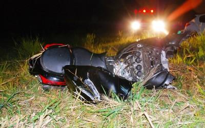 Suzuki Hayabusa fica destruída após perseguição feita por agente da PRF