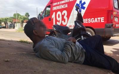 Polícia Militar registra acidente entre camionete e moto no Santa Rita