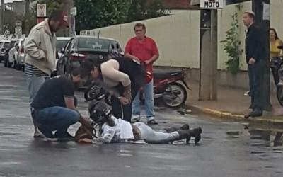 Internauta registra acidente na Avenida Clodoaldo Garcia
