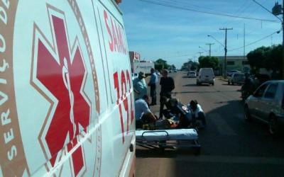Ciclista de 66 anos provoca acidente na Clodoaldo Garcia