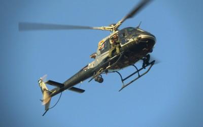 Helicóptero do Grupo Aéreo da capital auxilia na operação feita pelo 2º BPM
