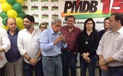 Deputado Eduardo Rocha prestigia convenção do PMDB em Campo Grande