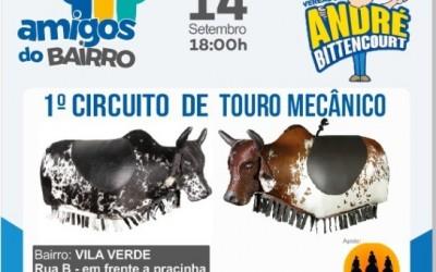 Vereador organiza Circuito de Touro Mecânico nos bairros de Três Lagoas
