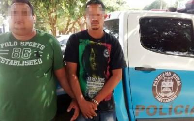 Patrulha Rural apreende drogas e dois paulistas de Promissão e Rio Preto