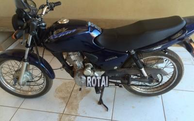 Moto furtada no Novo Oeste é encontrada pela ROTAI neste domingo