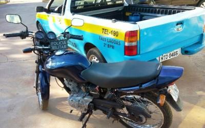 Moto furtada no Santos Dumont é recuperada pela equipe da Rádio Patrulha da PM