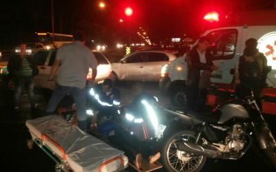 Mulher fica ferida após acidente de trânsito na região central