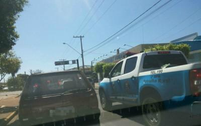 Comandante da Patrulha Rural tem seu carro furtado da frente de sua casa