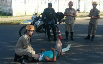 Polícia Militar registra acidente de trânsito em avenida de Três Lagoas