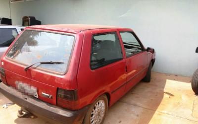 PM recupera Fiat Uno que foi furtado neste domingo em Três Lagoas
