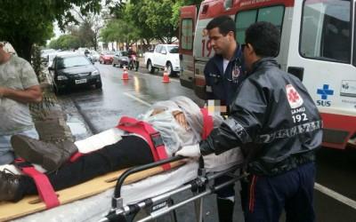 Lojista do Shopping Popular sofre acidente e é resgatada pelo SAMU