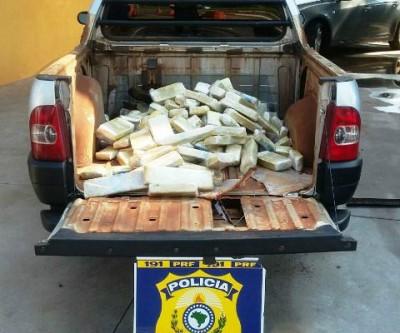 PRF intercepta carregamento de cocaína e maconha que seriam entregues em Três Lagoas