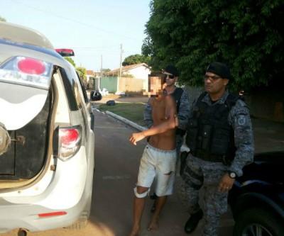 Jovem que quebrou carro de professor é preso pela ROTAI